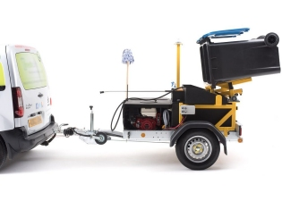 Wheelie Bin Cleaning with our Bespoke equipment throughout the Welwyn and Hatfield Borough